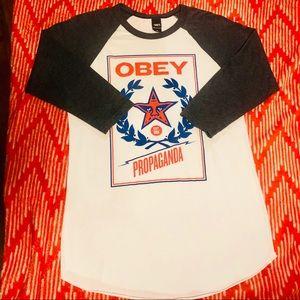 Obey Tops - NWOT Obey Baseball Tee